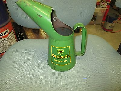 Early Original BP Energol Motor Oil Quart Pour Can Metal