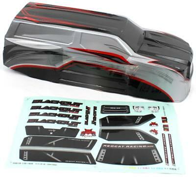 Redcat Racing 1/10 Scale Red/Black/Silver SUV Body for Blackout XTE/XTE Pro