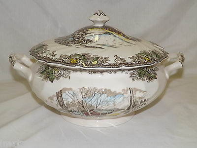 Johnson Brothers The Friendly Village Tureen With Lid Staffordshire England