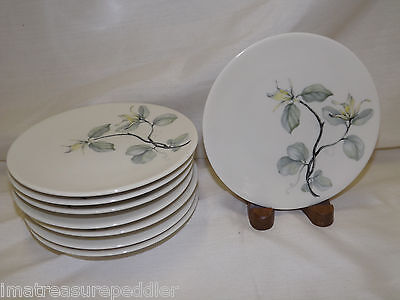 Peter Terris - Shenango China - White Lily 8 Bread Butter Dessert Plates 6 1/4""