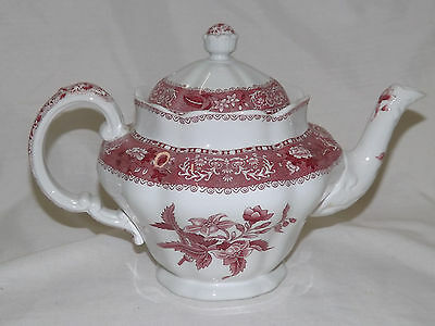 Older Spode CAMILLA RED Teapot with Lid