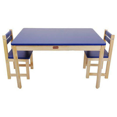 Children's Table & Chairs Rectangular Table & 2 Chair Set Blue CLEARANCE
