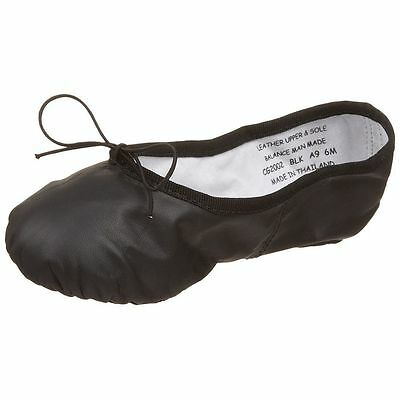 NEW IN BOX Capezio Split Sole Leather Ballet Shoes,CG2002 in Black, Adult Sizes
