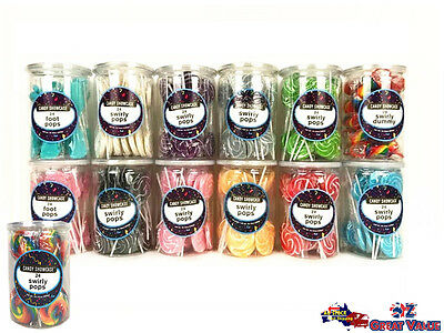 Large Swirly Pops Swirl Lollipops Candy Showcase 288g Party Baby Shower Wedding