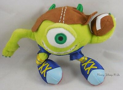 "New Disney Store Monsters Inc Football Mike Mini Bean Bag 8"" Plush Toy Doll"