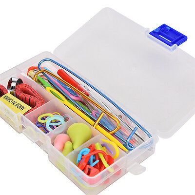 1 Set Knitting Tools Crochet Needle Hook Accessories Weave w/Case Box Yarn Kit