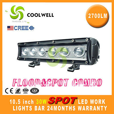 10 Inch 30W Cree Led Work Light Bar Spot 4X4 Offroad Lamp Spot 4Wd Ute