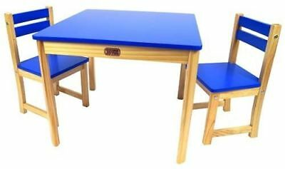 Children's Table & Chairs Square Table and 2 Chair Set Blue CLEARANCE