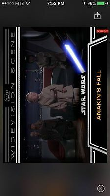 Topps Star Wars Digital Card Trader Anakin's Fall Widevision Insert