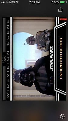 Topps Star Wars Digital Card Trader Unexpected Guests Widevision Insert