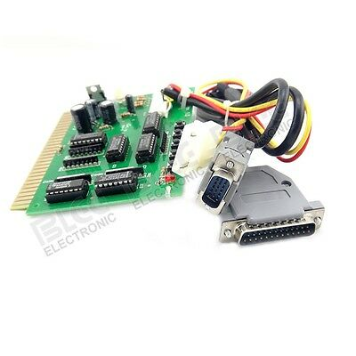 For MAME or Hyperspin Jamma Interface to USB PC Joystick w/ audio amplifier PCB