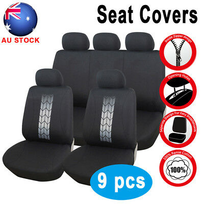 Universal Car Seat Covers Seat Cushion Black White SUV Truck Car Seat Cover Set