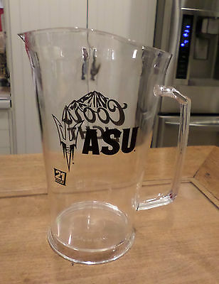2 ASU COLLEGE COORS LIGHT - ACRYLIC BEER PITCHERS BLK Lettering & Logo 32 OZ NEW