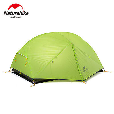 Naturehike Ultralight Camping Tent 2 Person Double Layers Dome Tent for 3 Season