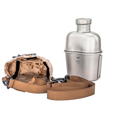 Keith Titanium Canteen Large Capacity Water Kettle Portable Water Bottle