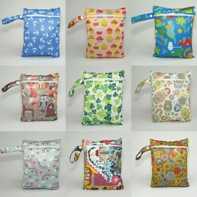 Small Wet Bag for Reusable Nappies, Wipes, Sanitary Pads, Breast Pads FREE P&P!