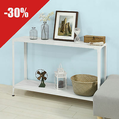 SoBuy® Console Table, Side Table, Hallway Table with One Shelf,FSB08-W,UK