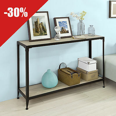 SoBuy® Console Table, End Table, Hallway Table with One Shelf,FSB08-SCH, UK