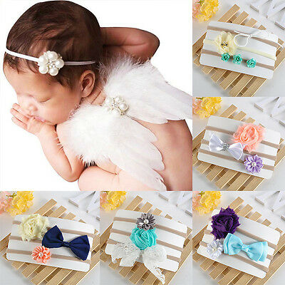 3pcs Headband Kids Girl Baby Toddler Bow Flower Hair Band Accessories Headwear