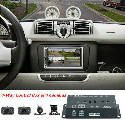 360° Full Parking View Front/Rear/Right/Left 4 Cameras DVR&Video Monitor Box Kit