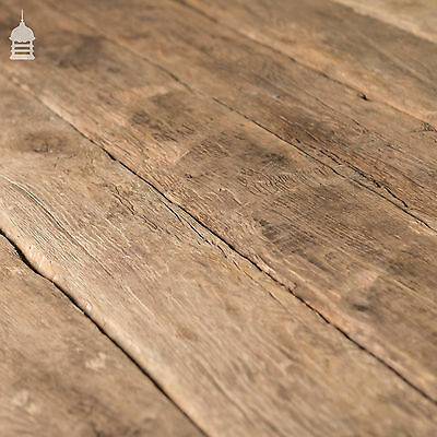 Reclaimed Wide Oak Flooring Floor Boards with Brushed Finish