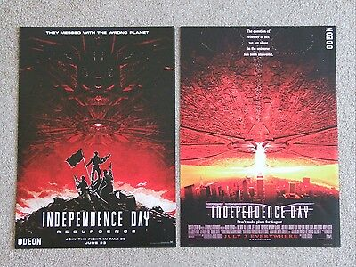 Independence Day Resurgence double sided IMAX mini posters.