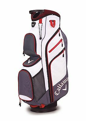 2017 Callaway Golf Chev Org Cart Trolley Bag 14-Way Divider Titanium/White/Red