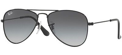 Ray Ban 9506 50 Aviator Junior 220/11 Sunglasses Black Sole Bambini Gradient