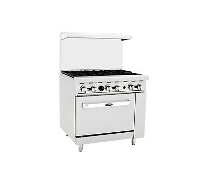 Atosa CookRite ATO-6B, 36-Inch 6 Burner Heavy Duty Gas Range Single Oven