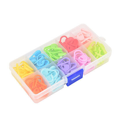 120pcs 10colors Mark Buckle Small Plastic Buckle Knitting Tools Set Kits