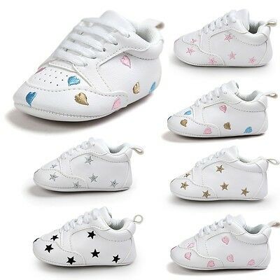 Baby Toddler Boy Girl Soft Sole Prewalker Crib Casual Multi-Color Shoes 0-18M