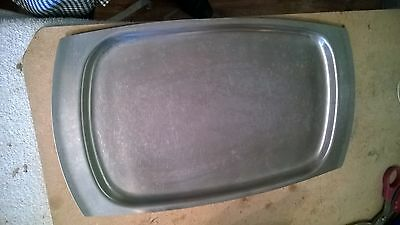 Vintage Old Hall Tray Stainless Steel Tray 1 x 10 Inches Sandwiches Serving Meat