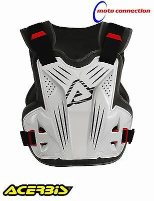 New Acerbis Motocross Chest Protector Body Armour Impact Mx White