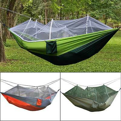 Portable Fabric Mosquito Net Hammock Outdoor Camping Hiking Double Person