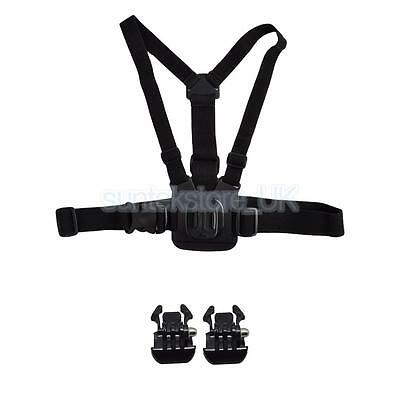 Chest Vest Harness Shoulder Safety Straps + Quick Release Buckle for GoPro