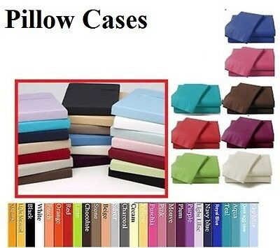 Luxury Percale Polycotton Housewife Pair Pack Bedroom Pillow Cover