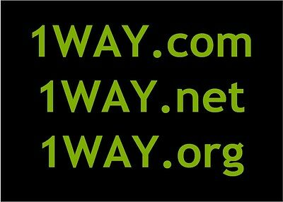 1WAY.com - 1WAY.net - 1WAY.org all in one domain names