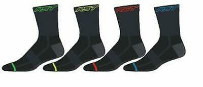 RST Race Dept Socks 4 Pack Motorcycle Stop Bacteria Technology New for 2017