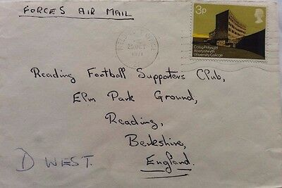 Aden 1971 British Forces Field Post Office 21 Machine Cover Royal Tank Regiment