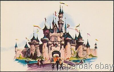 Original 1954 Pre-Opening Disneyland Postcard Of Fantasyland