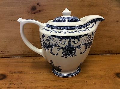 Vintage Blue & White Queen's China - The Royal Palaces - Small Coffee Pot