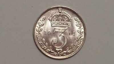 1912 Silver Threepence. George V.1911-1936. Exceptional Striking.British Milled.