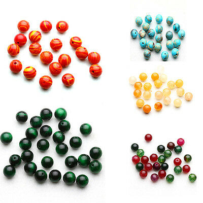 30Pcs Natural Gemstone Round Spacer Beads DIY Jewelry Making Wholesale Lot New