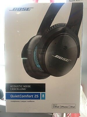 Bose QuietComfort 25 Black Noise Cancelling Headphones w/ Mic and Remote