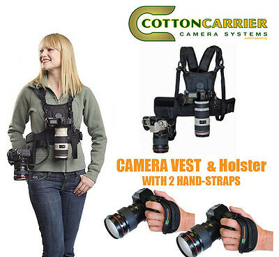 COTTON CARRIER CAMERA VEST AND SIDE HOLSTER 124RTL-d FOR TWO CAMERAS