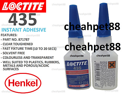 LOCTITE 435 - Toughened, clear, ethyl-based instant adhesive 20g - Free Shipping