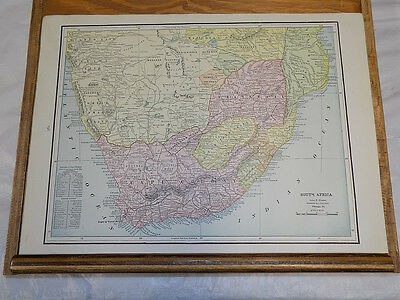 1891 Antique CRAM Map///SOUTHERN SOUTH AFRICA