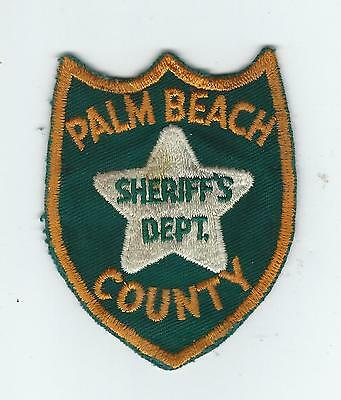 VINTAGE PALM BEACH COUNTY, FLORIDA SHERIFF'S  DEPT. (CHEESE CLOTH BACK) patch