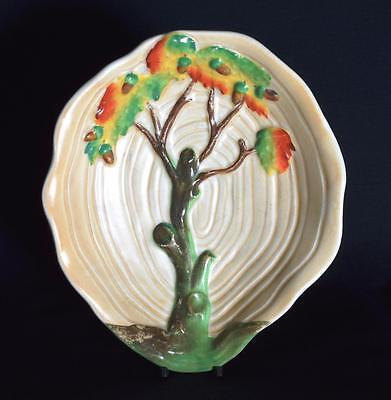 Carlton Ware Art Deco Oak Tree and Rings Bowl 1930s