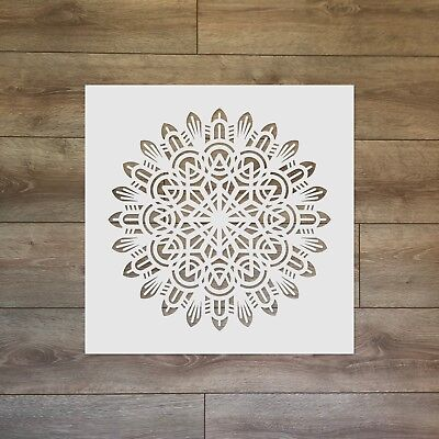 Mandala Motive - Sacred Geometry Reusable Plastic Stencil